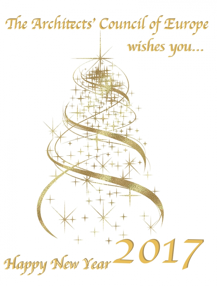 The Architect's Counsil of Europe wishes you Happy New Year 2017